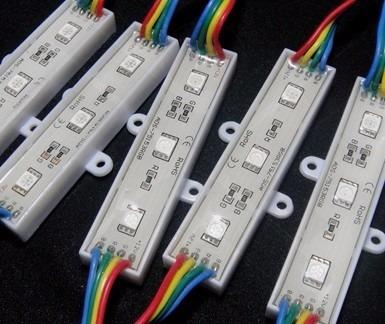 100 módulo 5050 smd 3-led ip65 prova d'agua rgb 12volts