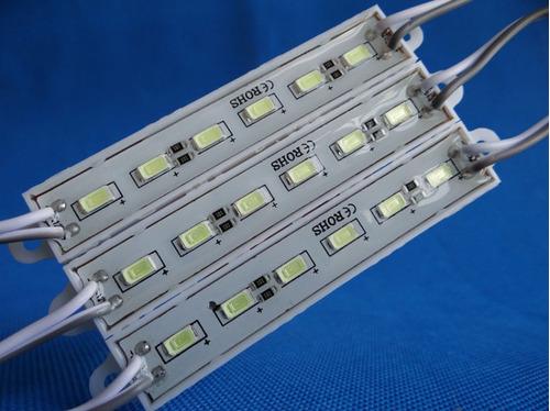 100 modulo 6 led 5630 5730 ultra brillante blanco frio 12v