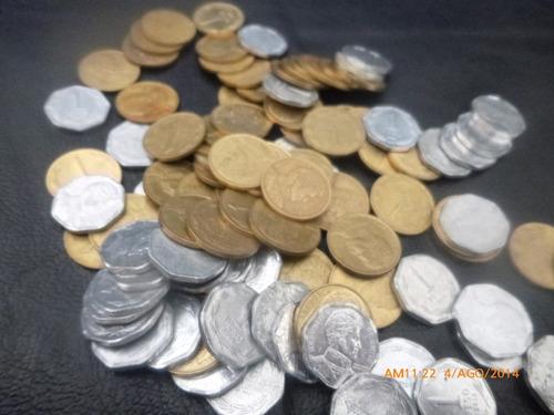 100 monedas de 1 peso al 1992 al 2012 al niquel 81 -92 (b4