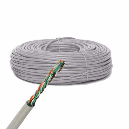 100 mts cable utp cat 5e red rj45 rj11