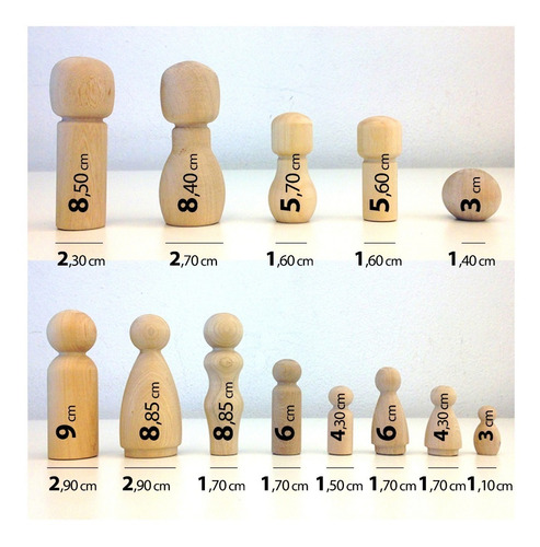 100 muñecos madera torneada peg dolls modelos baum almacen