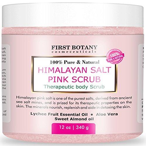100% natural himalayan salt scrub 12 oz con lychee aceite y