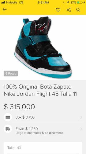 100% original bota zapato nike jordan flight 45 talla 11