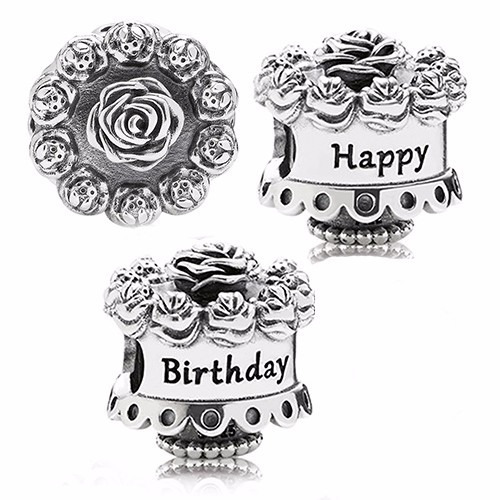 100  Original Pandora Charm P  Pulsera Happy Birthday