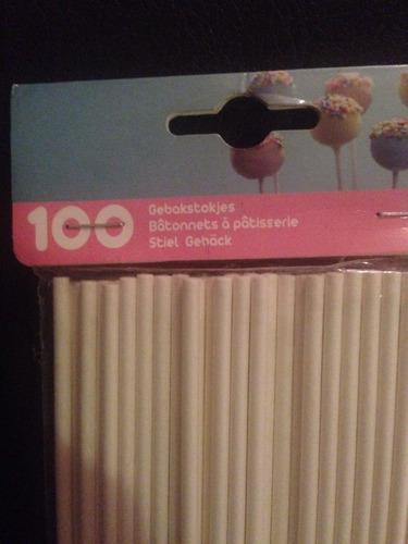 100 palitos para chupetas y popcakes importados!