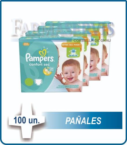 100 pañales pampers confortsec todos los talles