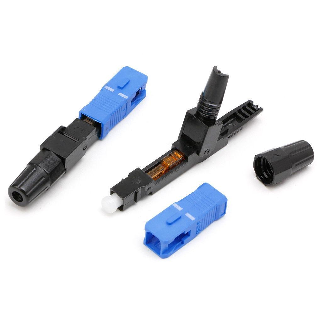 100 pcs ftth sc upc single-mode conector rápido fibra óptica. Carregando  zoom. 9915d29f67