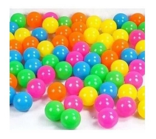 100 pelotas plásticas para  piscina
