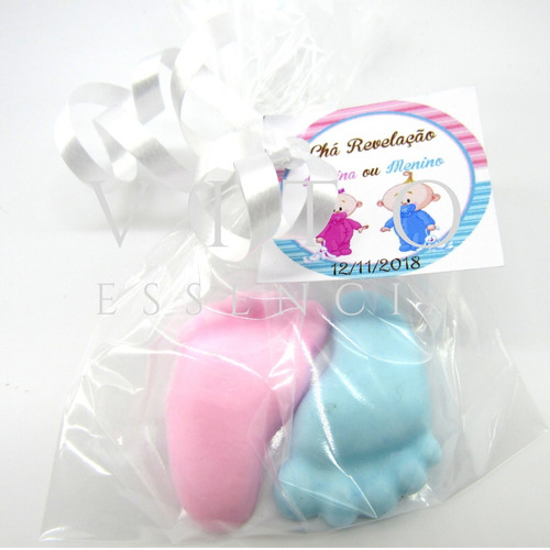 100 pezinhos sabonete (50 pares) lembrancinha maternidade