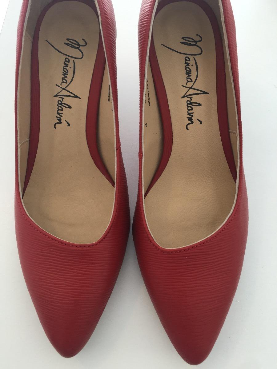 Zapatillas 1 Medio Rojo 00 Tacón Piel Mujer 100 380 Zapatos THBw5xRppq