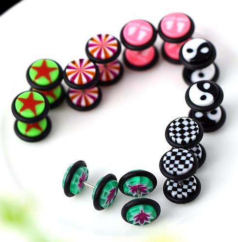 100 piercing, arete moda novedad y mayoreo