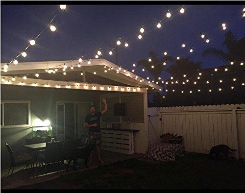 100 pies g40 globo cadena de luces con bombillas-ul listd