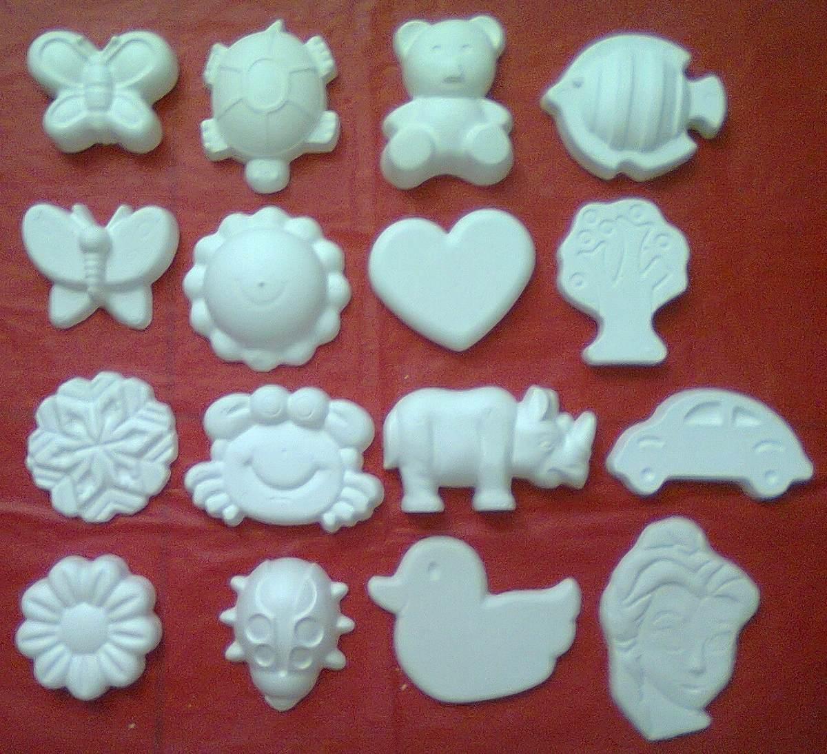100 piezas de figuras de yeso precio mayoreo en for Donde venden vinilos para pared