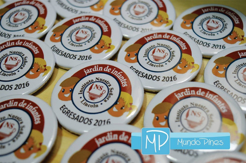 100 pines prendedores souvenirs diseños personalizados 25mm