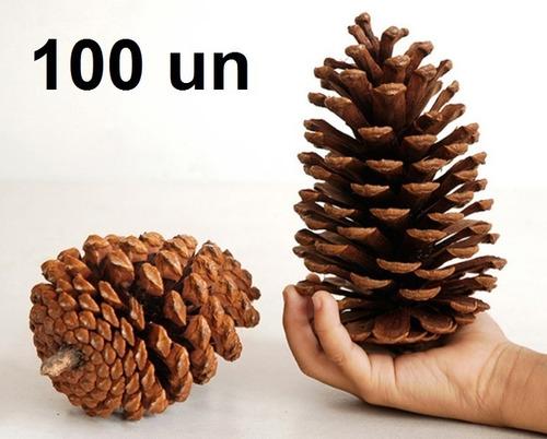 100 pinhas naturais in natura enfeite de natal artesanato oferta p/ festa eventos pinha pinos pino decoração guirlanda