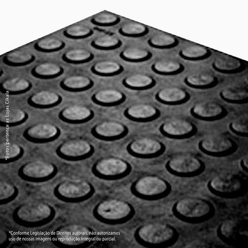 100 piso moeda preto borracha pastilhado academia 50x50cm