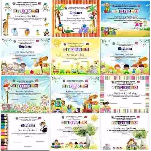 100 plantillas diplomas infantiles y preescolares en pptt
