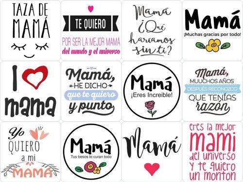 100 plantillas mama digital frases sublimacion taza frasco