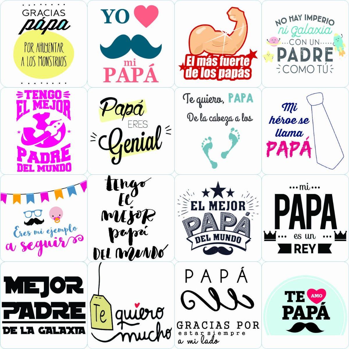 100 Plantillas Papa Digital Frases Sublimacion Taza Frasco - $ 6.000 ...