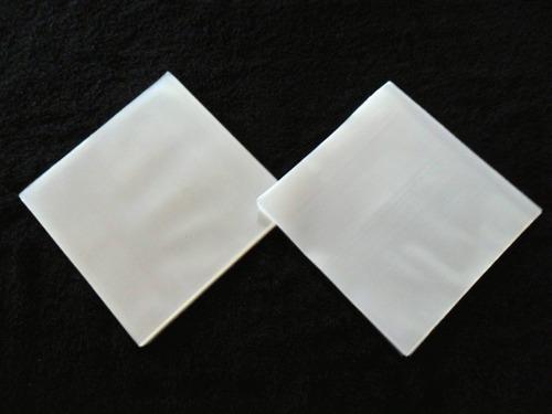 100 plásticos p/ compactos vinil - 50 externos + 50 internos