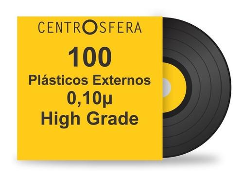 100 plásticos para proteção das capas de lp disco vinil