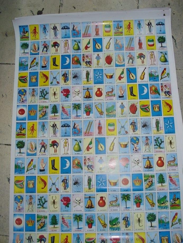 100 Pliegos De Juego De Loteria Mexicana Con Envio Incluido