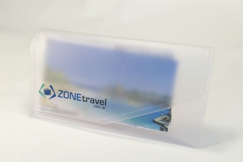 100 porta vouchers  para turismo con su logo 101 cri esm