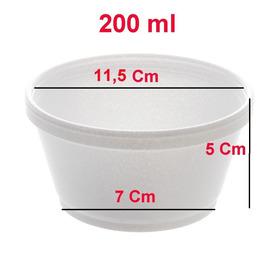 100 Pote Térmico Isopor Sorvete, Caldo, Sopa 500ml Com Tampa
