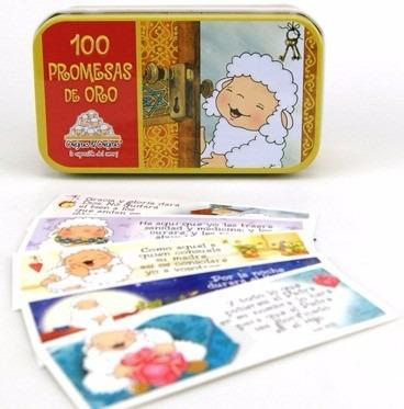 100 promesas de oro ovejitas caja metalica