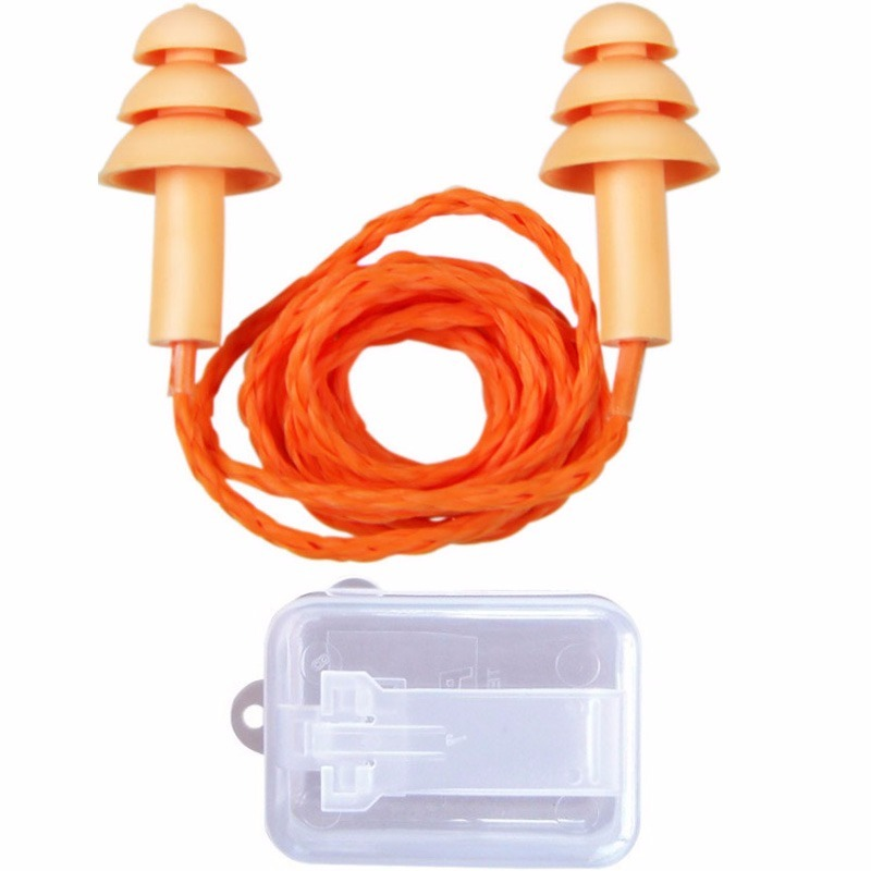 100 protetores auricular tipo plug em silicone material epi. Carregando  zoom. 9cc97ad59f