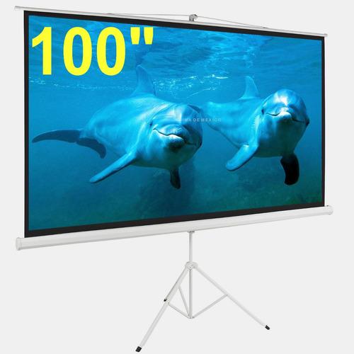 100'' pulgadas pantalla proyector tripie (2.54 mt) hd 16:9