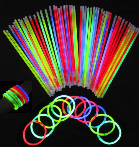 100 pulseras de cyalume glowstick neon glowparty®originalglw