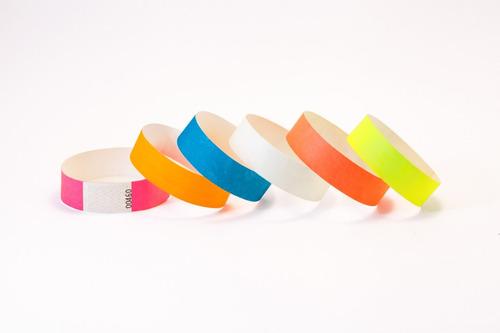 100 pulseras de seguridad para fiestas ! cumples, congresos