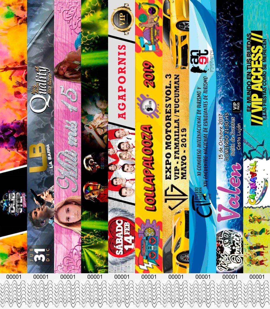 8ad1d34befc4 100 Pulseras Eventos Personalizadas Full Color Premium Papel -   380 ...