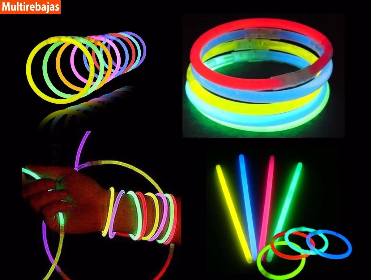 100 pulseras glow neon manillas led sticks luminosas fiesta u s 6 89 en mercado libre. Black Bedroom Furniture Sets. Home Design Ideas