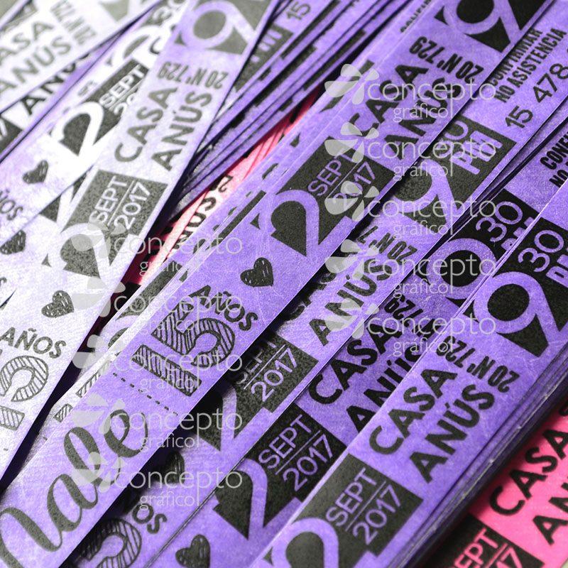 556867ef0cdc 100 pulseras impresas tyvek identificación eventos 15 años. Cargando zoom.