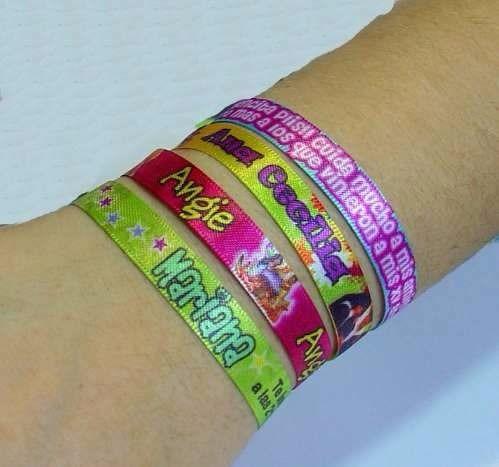 3439f8510022 100 Pulseras Personalizadas Eventos Fiestas Cumpleaños 15 -   650
