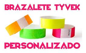 a0c3ffb2b225 100 Pulseras Personalizadas Tyvek Brazaletes Fiestas Eventos
