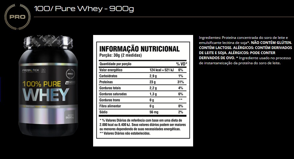609fc7fcf 100% pure whey - 2kg - probiótica - sabores. Carregando zoom.