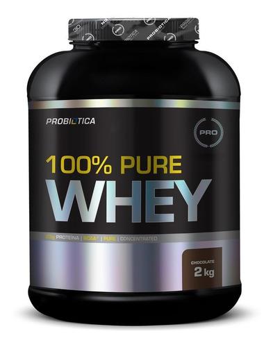 100% pure whey protein 2kg chocolate probiótica