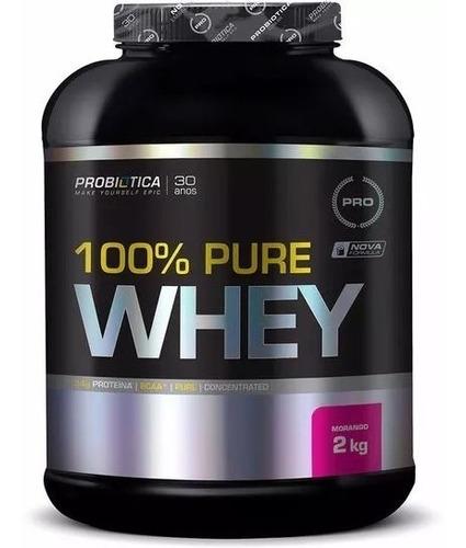 100% pure whey protein (2kg) +coqueteleira probiótica