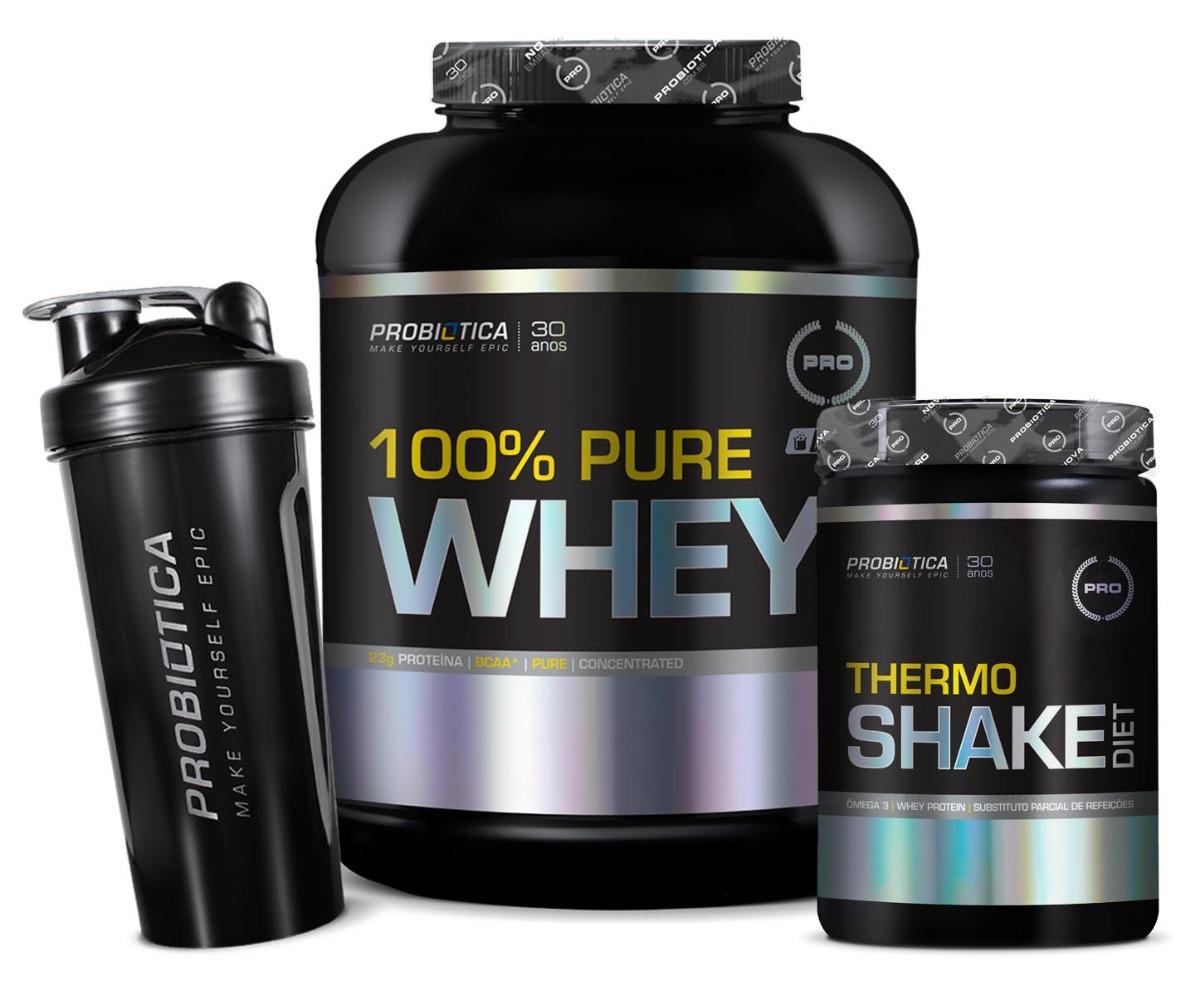 349a0595a 100% pure whey protein 2kg + shake emagrecer 400g probiótica. Carregando  zoom.
