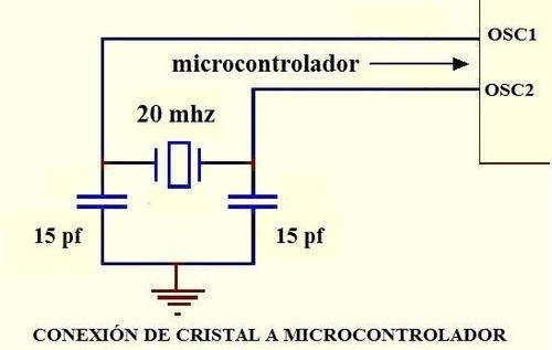 100 pzs cristal mini de 20 mhz.