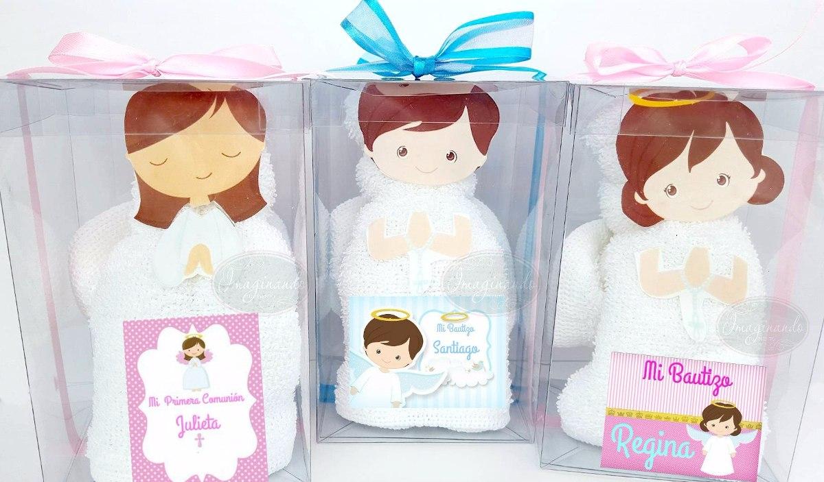 100 recuerdos toalla facial angelitos bautizo comunion - Como preparar un bautizo ...