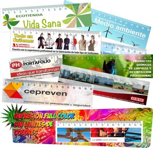 100 reglas de cartulina impresion full color publicitarias