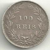 100 réis 1886 - luís i - portugal - prata - rara