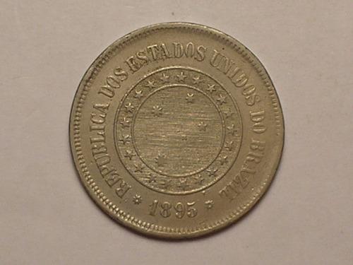 100 réis - 1895  em níquel / república / bonita