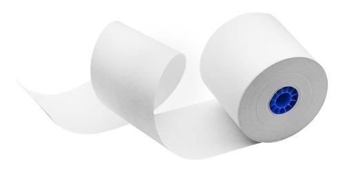 100 rollos papel térmico 80x70 impresora 80mm negro con iva