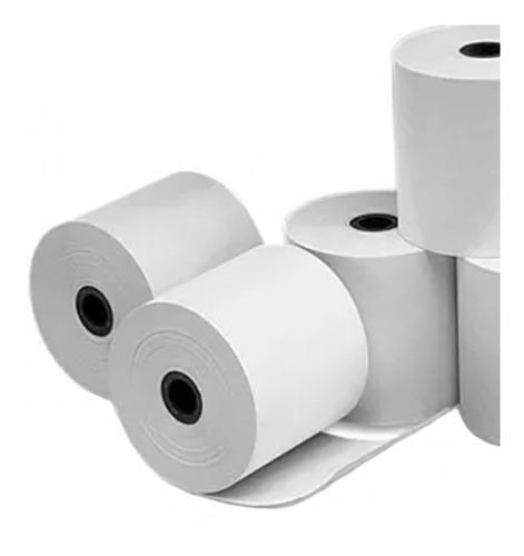 100 rollos papel térmico posnet 57x30 shure papers