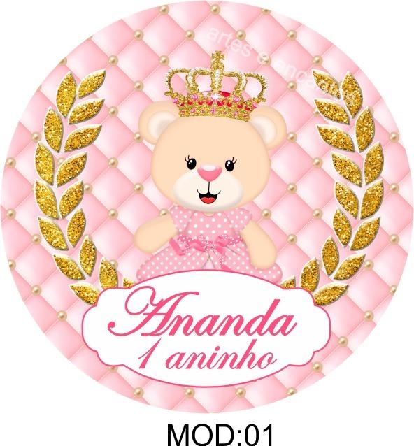 Adesivo Para Moto Frases ~ 100 Rótulos Adesivo Ursinha Princesa Personalizados Latinhas R$ 15,99 em Mercado Livre